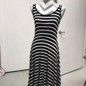 Black/ white striped dress